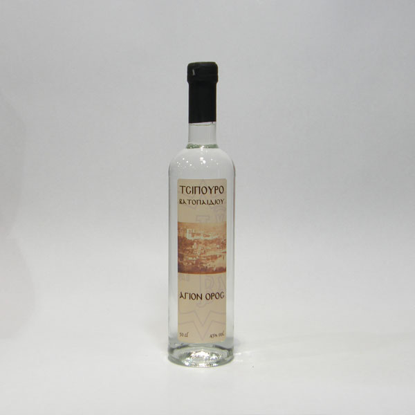 Tsipouro Without Aniseed  Holy Great Monastery of Vatopedi (500 ml)