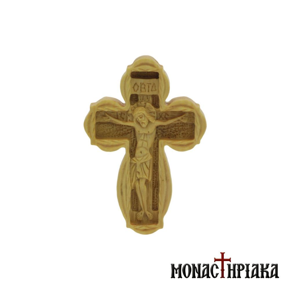 Hand Carved Wooden Cross with Crucified Jesus