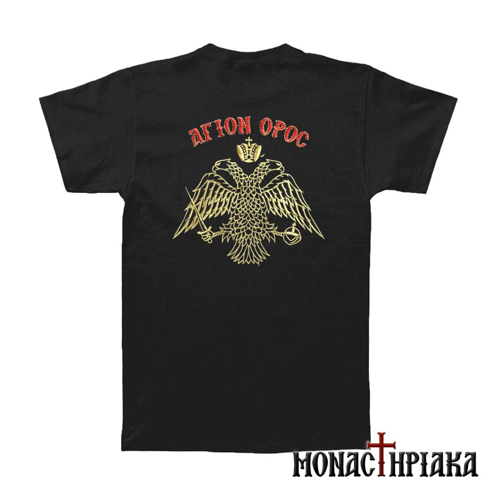 T-Shirt with Embroidered the Byzantine Eagle