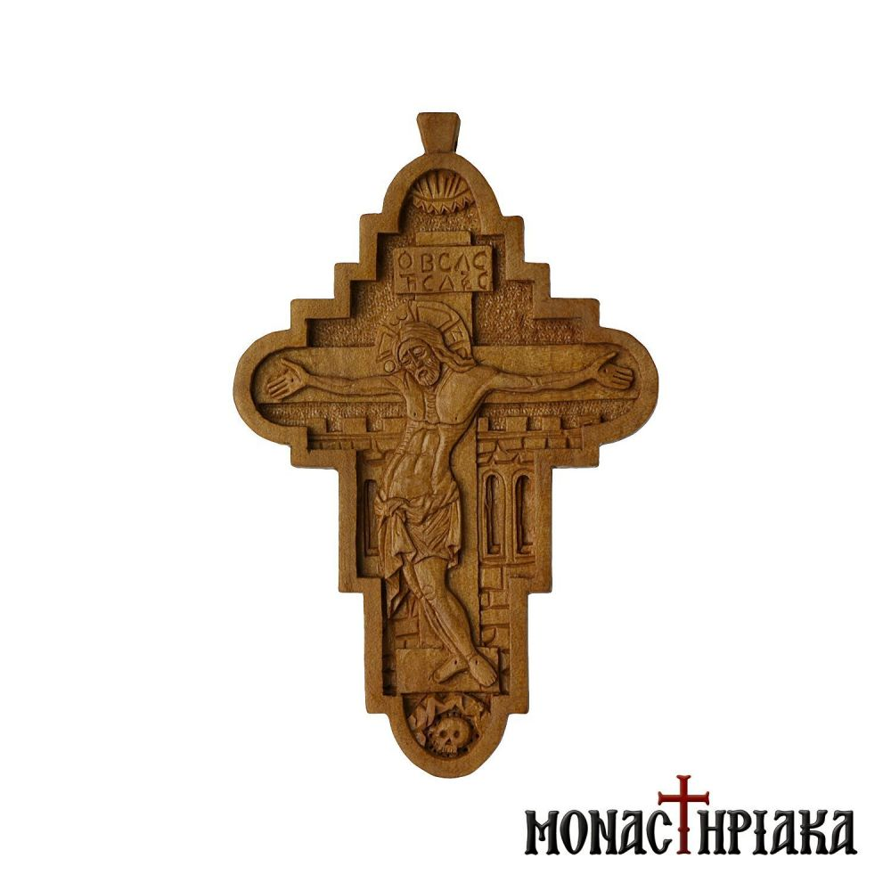 Wood Carved Byzantine Cross