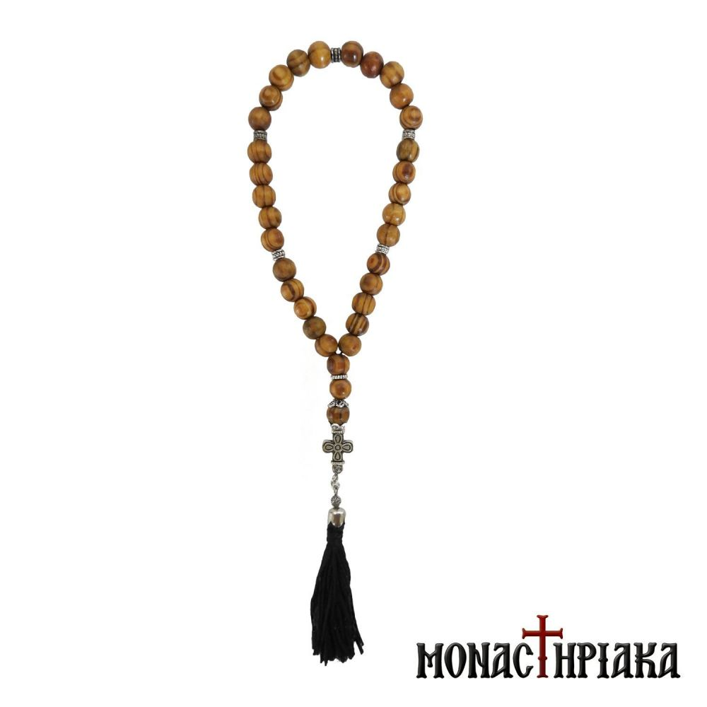 Wooden Prayer Rope with 30 Beads