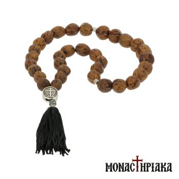 Aromatic Worry Bead (Komboloi) with Nutmeg Nuts - 33 Beads