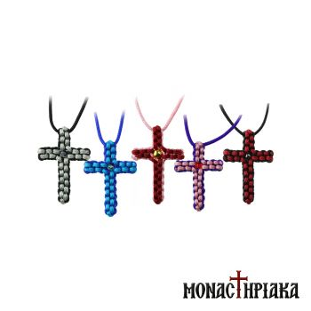 Bicolor Knitted Neck Cross