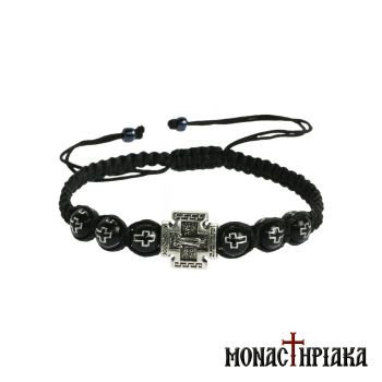 Black Prayer Rope with Metali Cross
