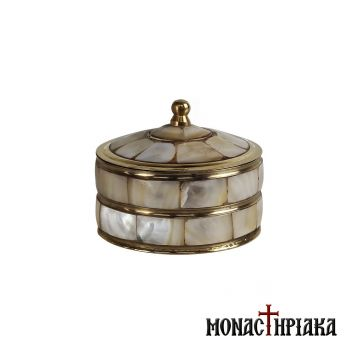 Brass Box with Mother of Pearl