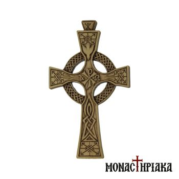 Celtic Hand Carved Wooden Cross
