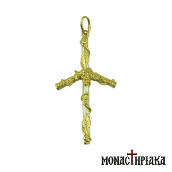 Cross of Saint Nina with the Vine in Gold Plating