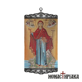 Embroidery with Theotokos