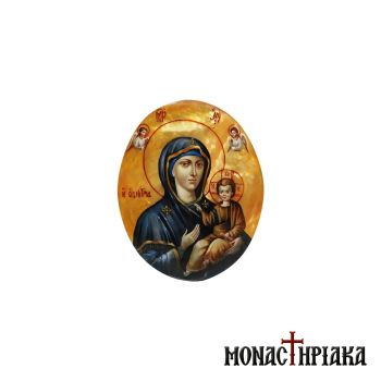 Enamel Virgin Mary Hodegetria