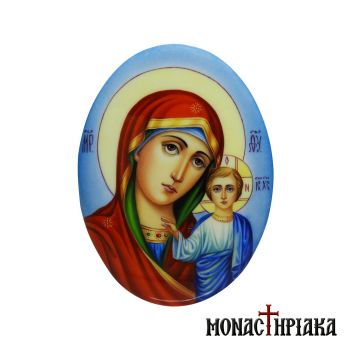 Enamel Virgin Mary of Kazan