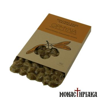 Green Olives with Athonite Oregano & Lemon of the Holy Monastery of the Annunciation - 500 gr