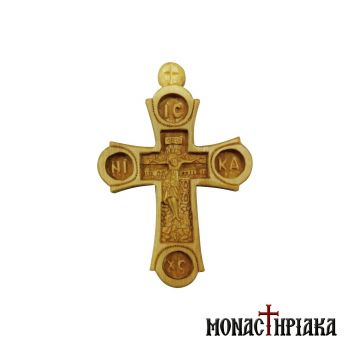 "Hand Carved Cross ""The Crucifixion"""