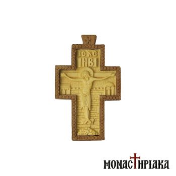 Hand Carved Pectoral Byzantine Cross