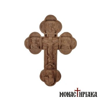 Hand Carved Wooden Blessing Cross