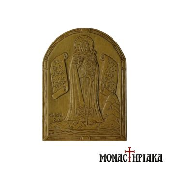 Hand Carved Wooden Icon Theotokos Eforos
