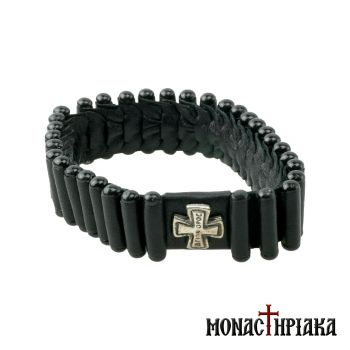 Leather Prayer Rope 33 Κnots with the Cross