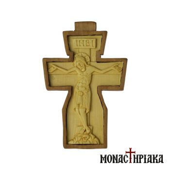 Pectoral Cross Carved on Boxwood and Mulberry Wood