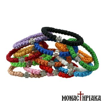 Prayer Rope 33 Knots Made of Synthetic Yarn in Various Colors