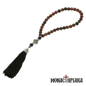 Prayer Rope with 33 Goldstone Beads