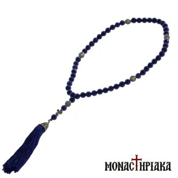 Prayer Rope with 50 Blue Goldstone Beads