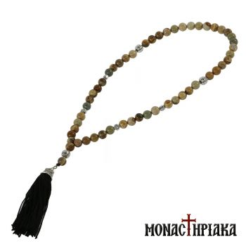 Prayer Rope with 50 Jasper Beads