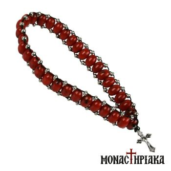 Prayer Rope with Red Beads