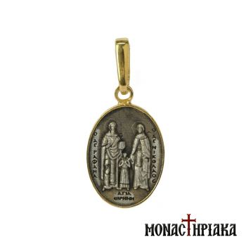 Saints Raphael, Nicholas and Irene Pendant