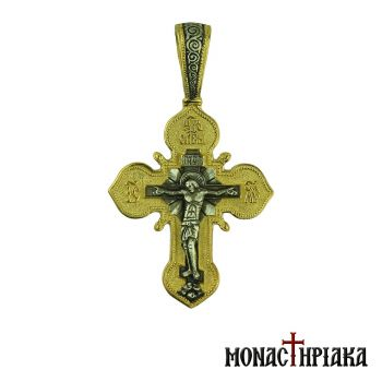 Silver Cross with Jesus and Theotokos of Kazan