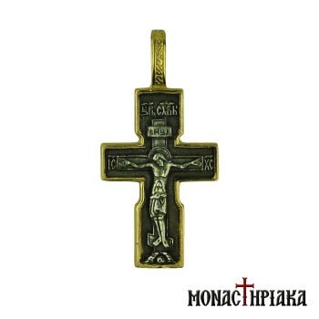 Silver Cross with Jesus Christ
