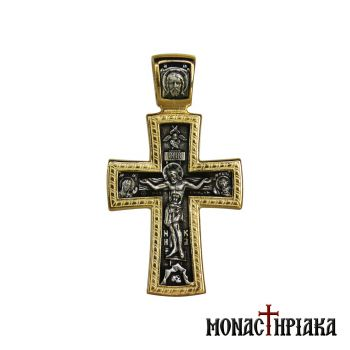 Silver Cross with Jesus Christ and Saint George