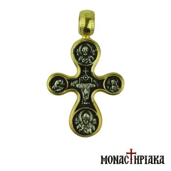 Silver Cross with Saints
