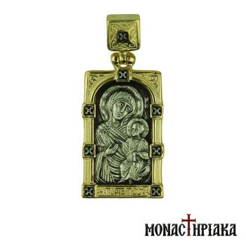 Silver Pendant of Our Lady Theotokos Portaitissa