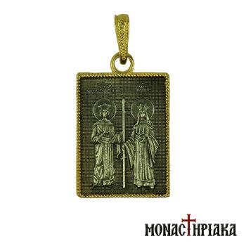 Silver pendant with Saints Constantine and Helen
