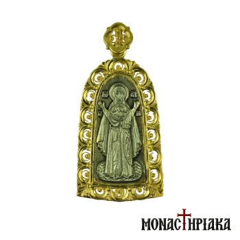 Theotokos Praying Silver Pendant