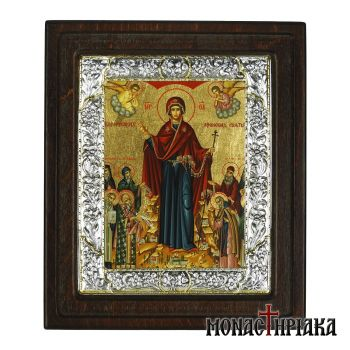Virgin Mary with Russian Athonite Saints