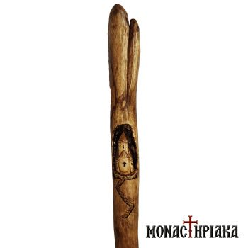 Walking Stick with Carved Decoration