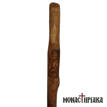 Walking Stick with Monk
