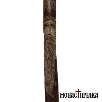 Walking Stick with Shape of a Monk