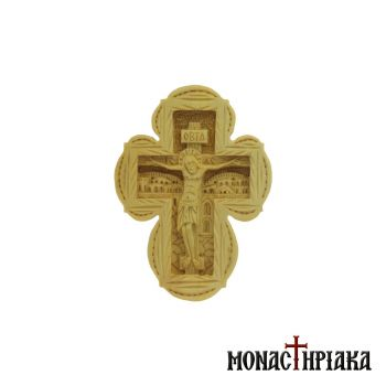 Wood Carved Cross Made of Boxwood