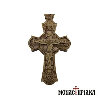 Wood Carved Cross with Crucified Jesus