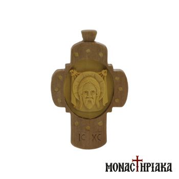 Wood Carved Pectoral Byzantine Cross
