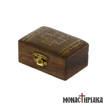 Wooden Box with Brass Decorating Elements