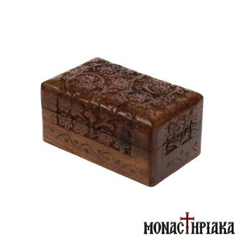 Wooden Box with Rich Engraved Decoration