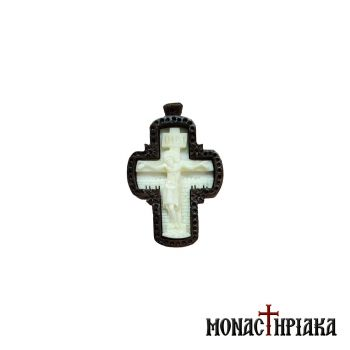 Wooden Byzantine Cross with Wooden Chain