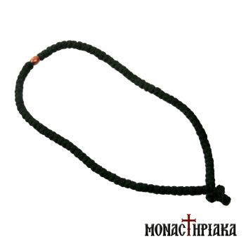 Wool Prayer Rope 100 Knots with Wooden Beads