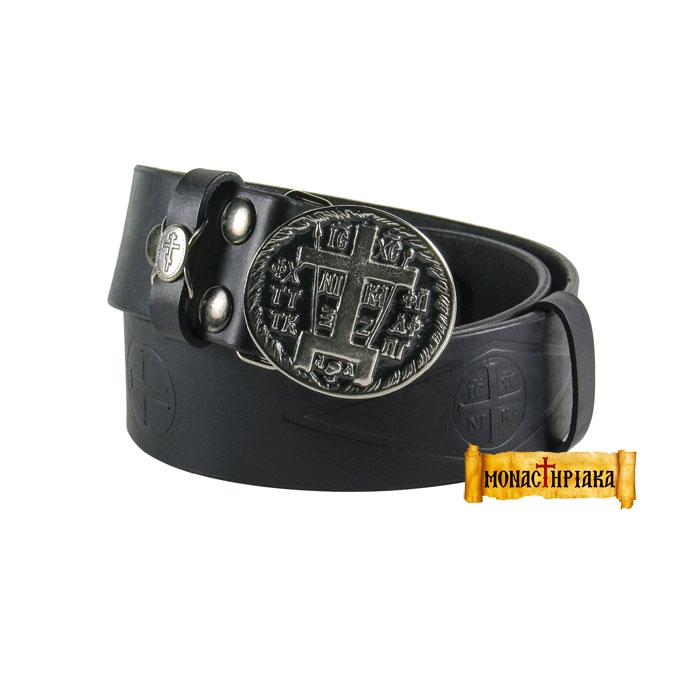 Leather Belt - Great Angelic Schema (Silver) (Holy cell of St. Nicholas)