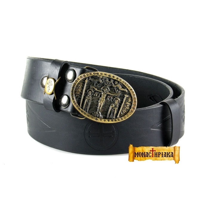 Leather Belt - Crucified (Holy cell of St. Nicholas)