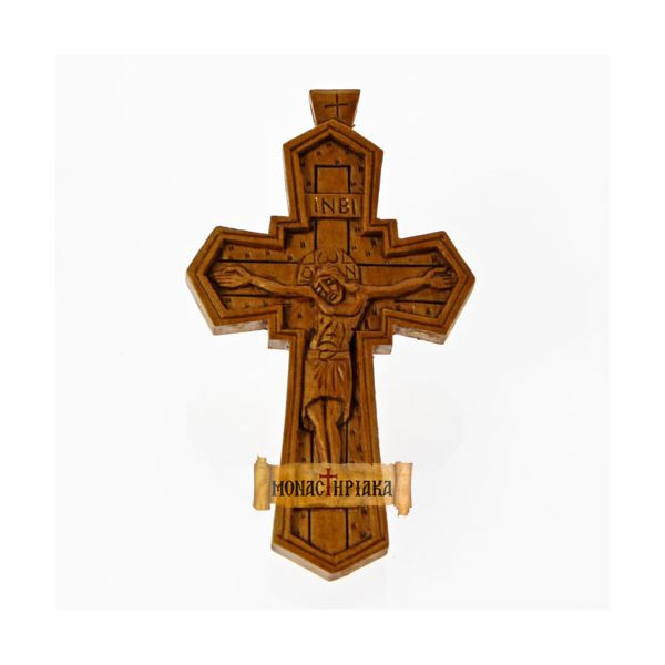 Hand Carved Wooden Cross  c. 060