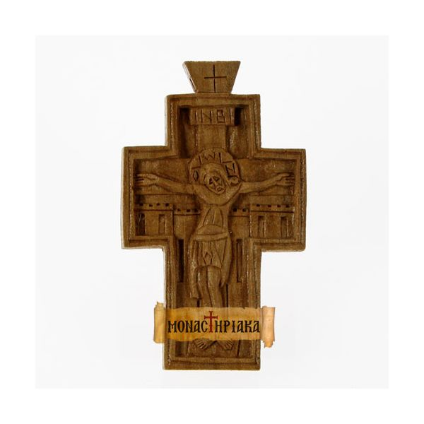 Hand Carved Wooden Cross c. 062