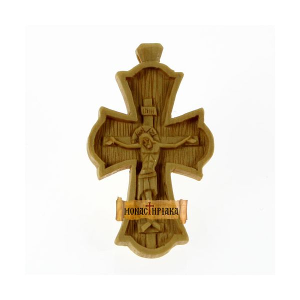 Hand Carved Wooden Cross c. 068